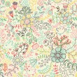 Floral seamless pattern in pastel colors for modern backgrounds — Stock Vector