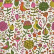 Vintage floral seamless pattern in vector — Stock Vector