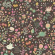 Floral seamless pattern with flowers. Cartoon background for vintage wallpapers — Stock Vector