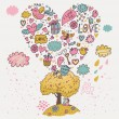 Royalty-Free Stock Imagen vectorial: Romantic date under the tree of love