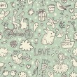 Romantic vintage seamless pattern — Stockvectorbeeld