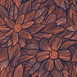 Seamless texture with flowers — Vecteur #24645911