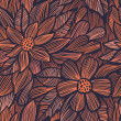 Seamless texture with flowers — Imagen vectorial