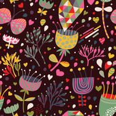 Bright floral seamless pattern for incredible backgrounds — Cтоковый вектор