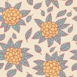 Beautiful floral seamless pattern in vector - Stock Vector