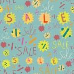 Sale seamless pattern — Stock Vector