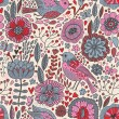 Retro floral seamless pattern — Vector de stock