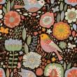Retro floral seamless pattern — стоковый вектор #25013625