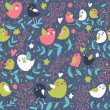 Постер, плакат: Funny cartoon seamless pattern for childrens room