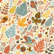 Stylish seamless vintage floral pattern - 