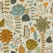 Quality floral seamless texture — Stockvectorbeeld
