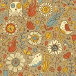 Vintage seamless pattern with birds and flowers — Stock Vector #25013933