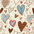 Romantic vintage seamless pattern — Stock Vector