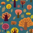 Stock Vector: Autumn seamless pattern