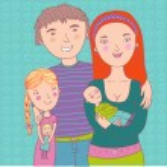 Happy family illustration in vector — Stock Vector