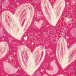 Romantic seamless pattern — Vector de stock #25014459