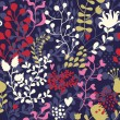 Retro floral seamless pattern in bright colors - Image vectorielle