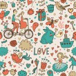 Romantic seamless pattern in stylish colors. Ideal pattern for wedding design. Seamless pattern can be used for wallpapers, pattern fills, web page backgrounds, surface textures. — Stockvectorbeeld