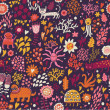 Fantastic seamless pattern. Abstract childish wallpaper in vector - Imagen vectorial