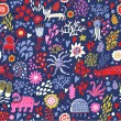 Fantastic seamless pattern. Abstract childish wallpaper in vector - Stock Vector
