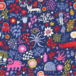 Fantastic seamless pattern. Abstract childish wallpaper in vector — Stock Vector