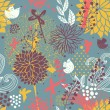 Bright abstract floral wallpaper in vector. Seamless pattern can be used for wallpaper, pattern fills, web page backgrounds, surface textures. Gorgeous seamless floral background — Stock Vector