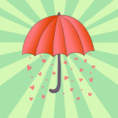 Romantic umbrella — Vecteur
