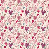 Padrão sem emenda romântico — Vetorial Stock