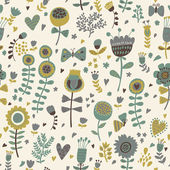 Simple cartoon floral seamless pattern for amazing wallpapers — Stock Vector