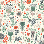 Beautiful floral seamless pattern in vector — Stock Vector