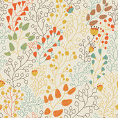 Floral seamless pattern for nice modern wallpapers in stylish colors — Stock Vector