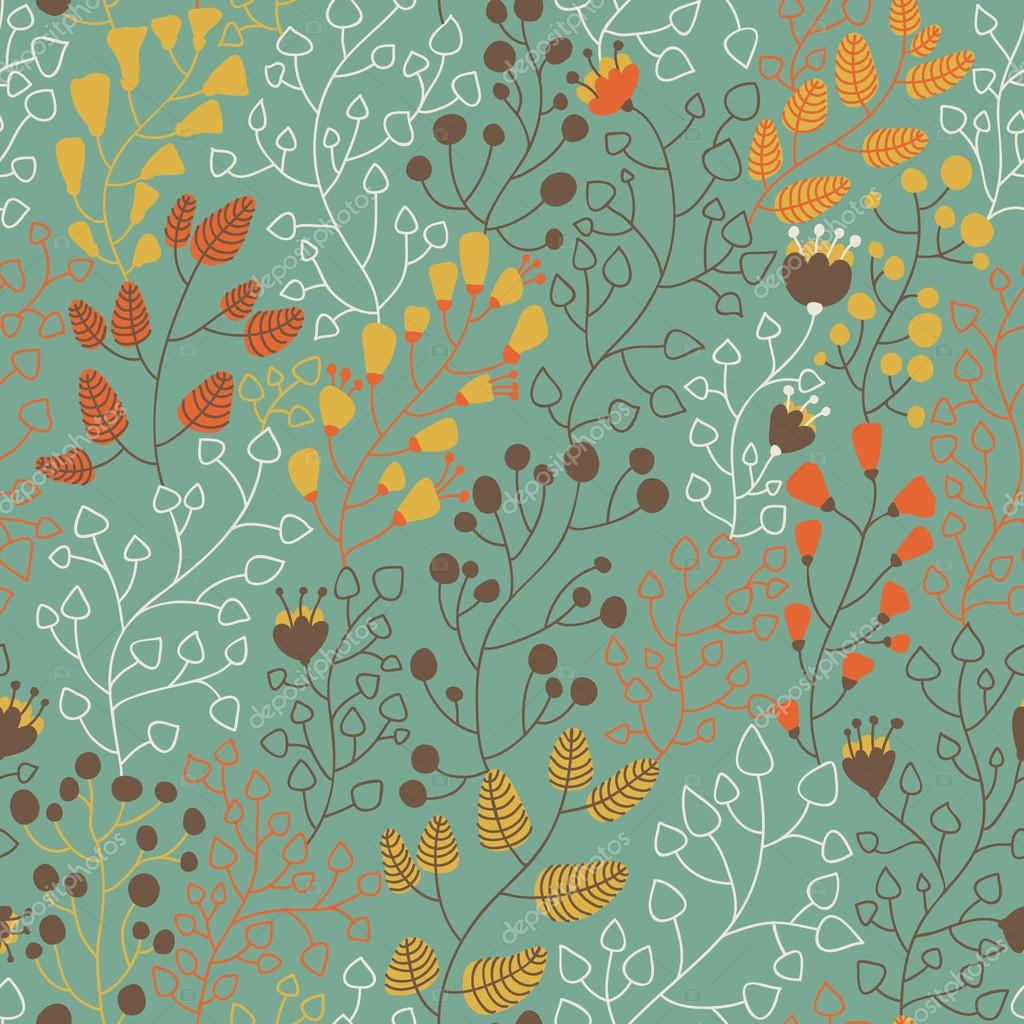 Patr n floral incons til para los papeles pintados for Papeles pintados modernos pared