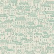 City view. Vector seamless pattern for cute urban wallpapers - Stock Vector