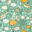 Glamour cartoon seamless pattern. Romantic concept — Grafika wektorowa