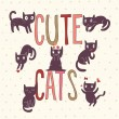 Cute cats in vector — Image vectorielle