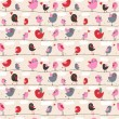 Birds in love. Cute seamless pattern for romantic holidays — Grafika wektorowa