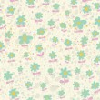 Spring seamless pattern. Light floral background in pastel colors — Stock Vector
