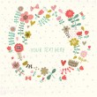 Stylish floral card in vector. Spring wallpaper. Ideal for wedding invitation. — Grafika wektorowa