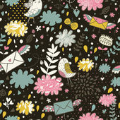 Glamour cartoon seamless pattern. Romantic concept — ストックベクタ