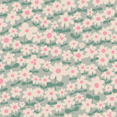 Seamless pattern can be used for wallpapers, pattern fills, web page backgrounds, surface textures. Simple seamless floral background — Stock Vector