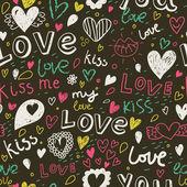 浪漫无缝模式。爱的概念背景。无缝模式可以用于壁纸、 图案填充、 web 页面的背景,表面纹理. — 图库矢量图片