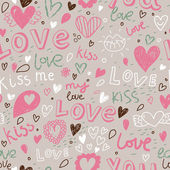 Romantic seamless pattern. Love concept background. Seamless pattern can be used for wallpaper, pattern fills, web page background,surface textures. — Stock Vector