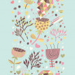 Cartoon floral seamless pattern. Spring background in pastel colors. Seamless pattern can be used for wallpaper, pattern fills, web page background,surface textures. — Stock Vector