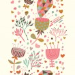 Cartoon floral seamless pattern. Spring background in pastel colors. Seamless pattern can be used for wallpaper, pattern fills, web page background,surface textures. - Stock Vector