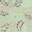 Light floral background in vector. Colorful spring natural invitation - Stock vektor