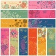 Floral banners in vector set. 12 floral cards. Summer, spring and autumn concept banners — Stock Vector #25066993