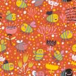 helle Frühjahr nahtlose Muster Bienen und Blumen. nahtlose Muster kann verwendet werden, für Tapete, Musterfüllungen, Webseite Hintergrund, Oberflächenstrukturen. wunderschöne nahtlose Blumen Hintergrund — Stockvektor  #25067245