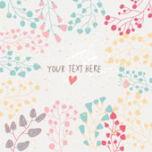 Light floral background in vector. Colorful spring natural invitation — Stock Vector