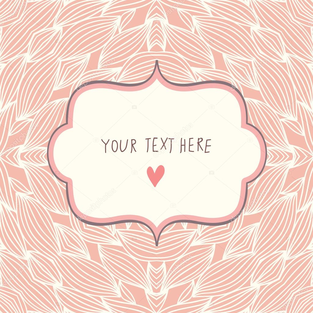 stylish simple card with textbox romantic wedding With wedding invitation text box