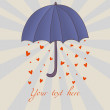 Stock Vector: Romantic umbrella